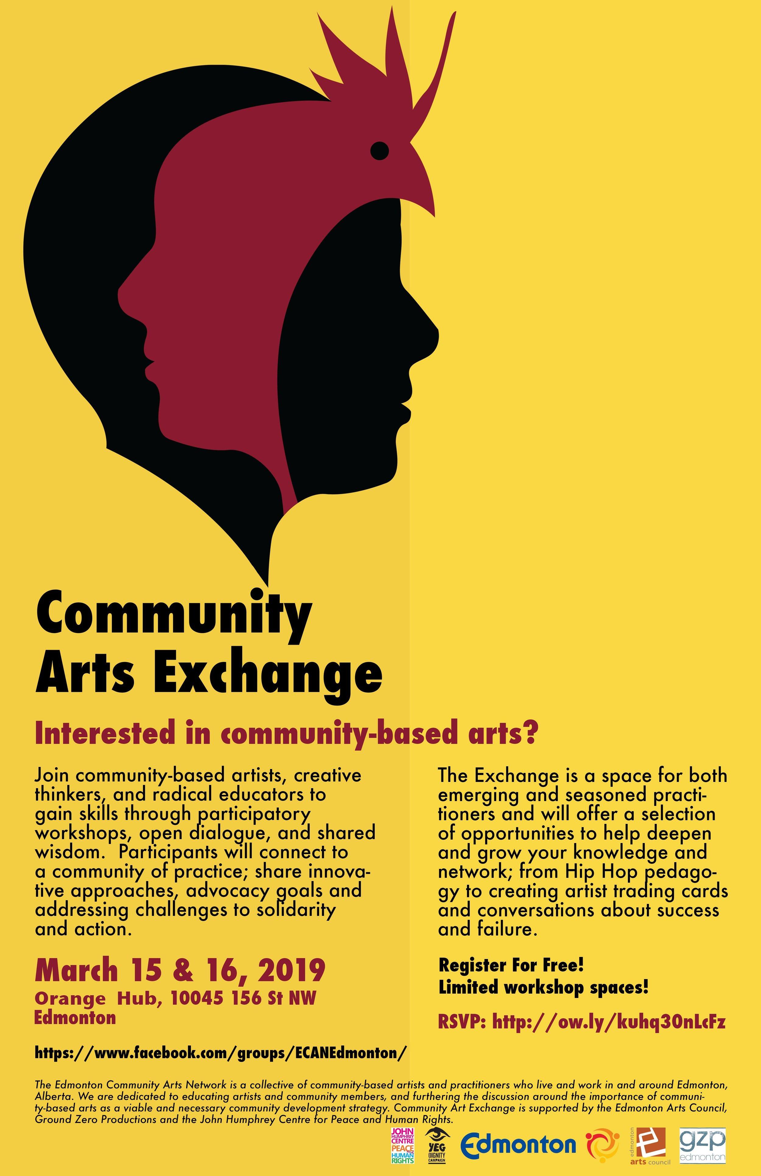 Community Arts Exchange Poster