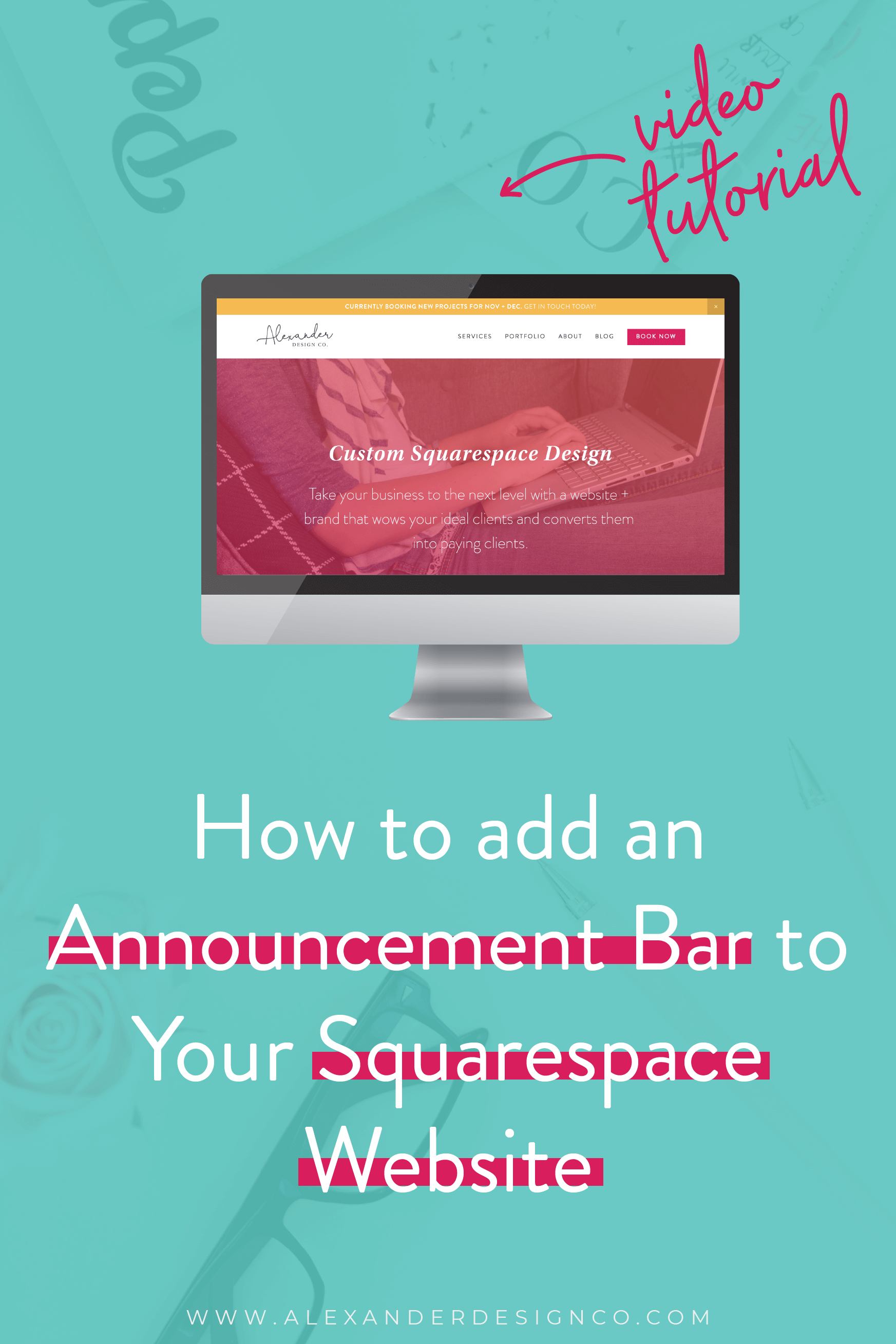 How to Add an Announcement Bar to Your Squarespace Website