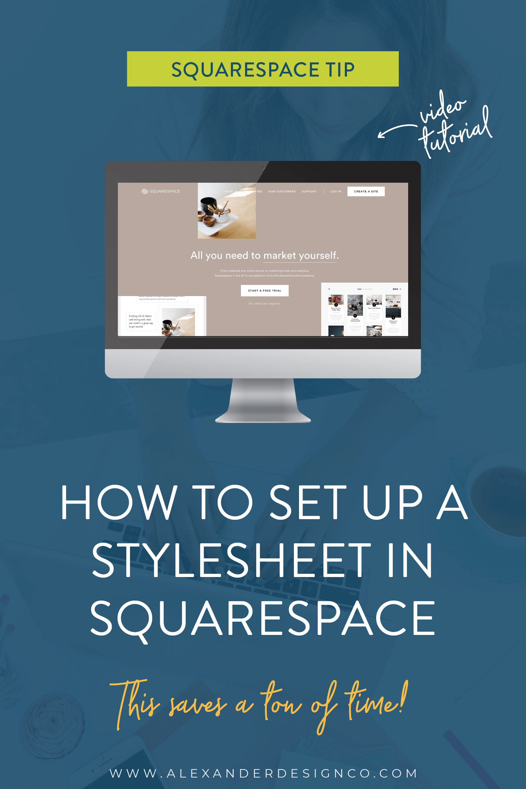 How to set up a style sheet in Squarespace to save time when designing your own website.
