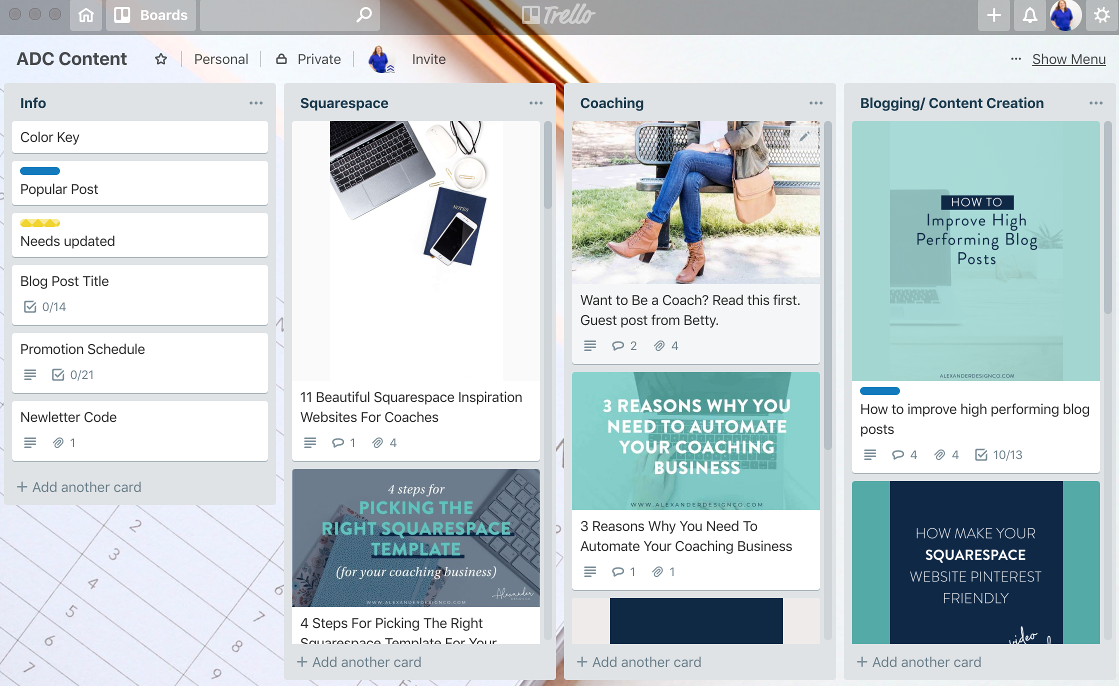 Content Bank Trello Board | 6 Trello Boards You Need To Be Using in Your Coaching Business