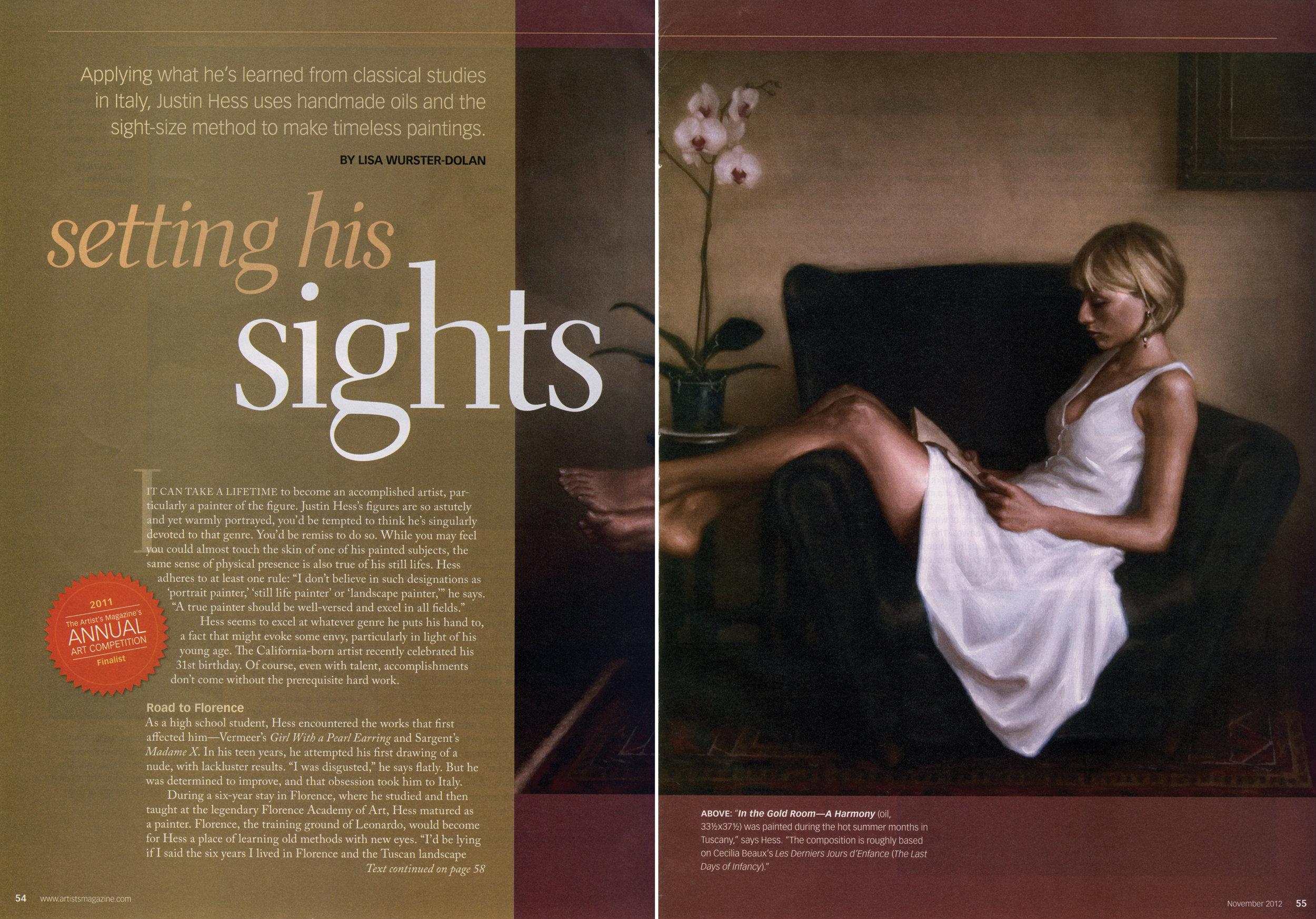 The Artist's Magazine  - November Issue 2012