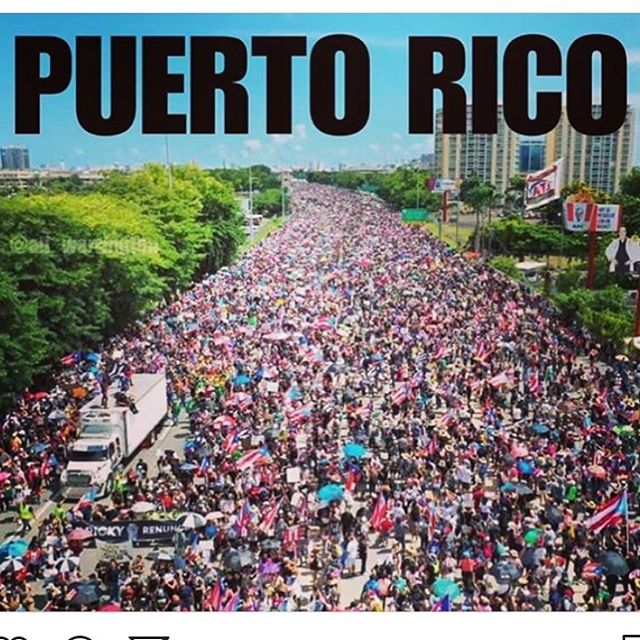 So proud of my people and my island ... Puerto Rico has showed the entire world what it means to fight for what you believe in and we won't settle for anything leas!!! #vivapuertorico🇵🇷🇵🇷🇵🇷🇵🇷🇵🇷