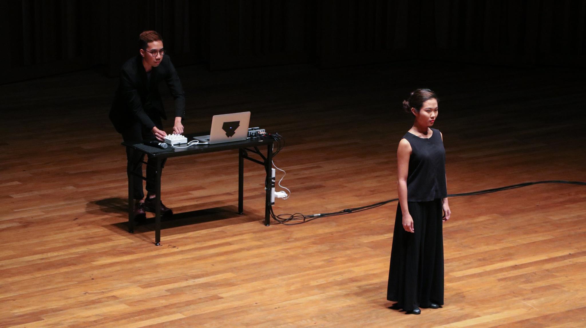 Mervin performing with YST voice major Ng Jingyun (BMus Year 3)