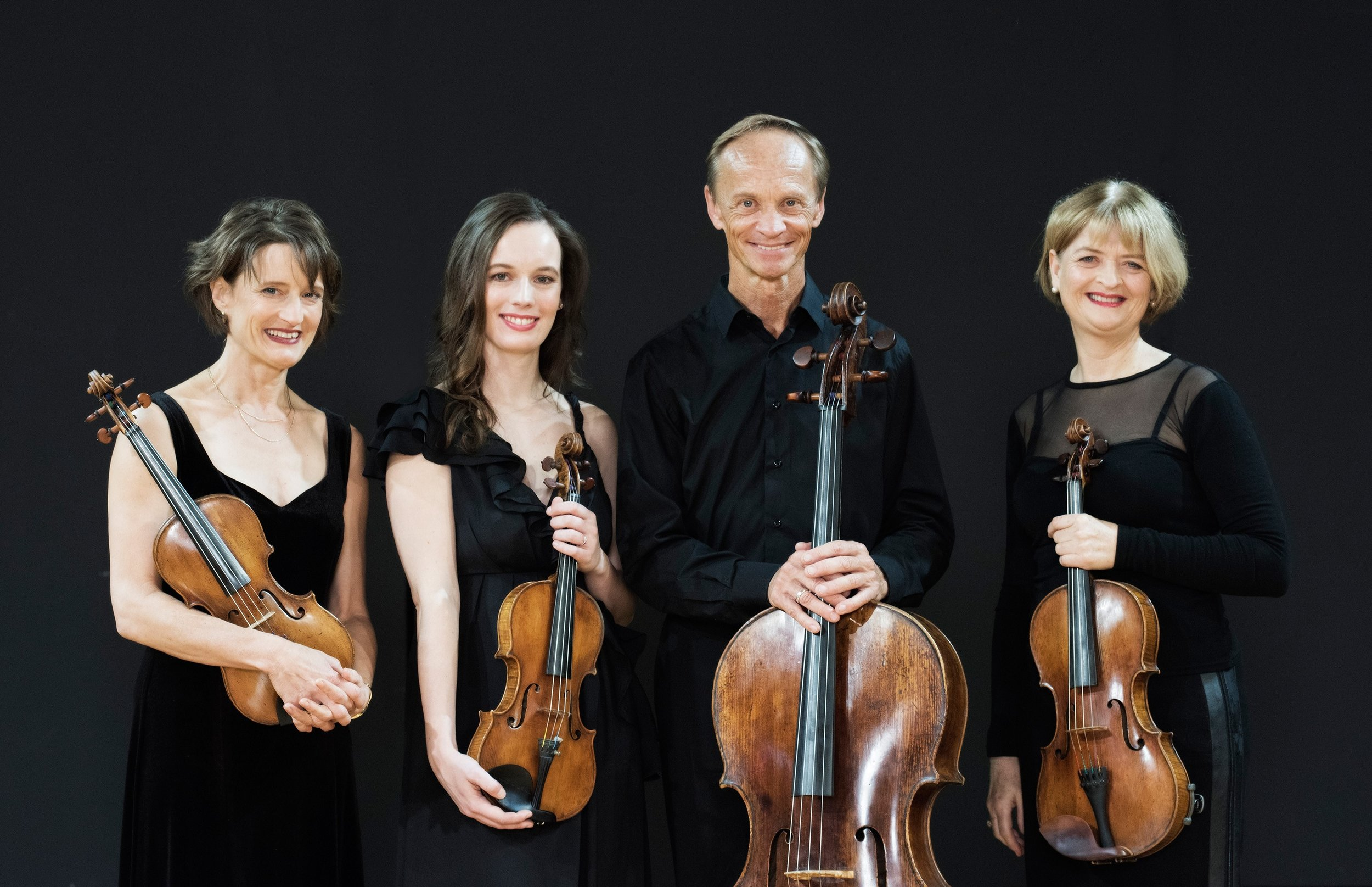 Above: Monique (second from left) with the New Zealand String Quartet.