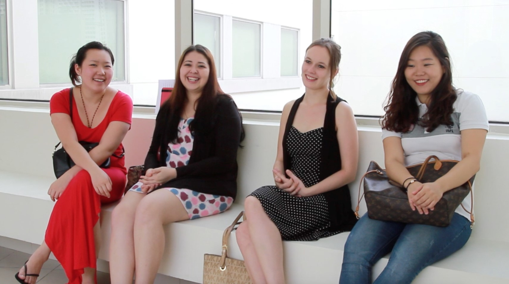 Above: Monique Lapins with her fellow friends from the Class of 2014. From left: Wang Yangzi (Viola), Adelya Nartadjieva (Violin), Monique Lapins (Violin), Lee Minjin (Cello)
