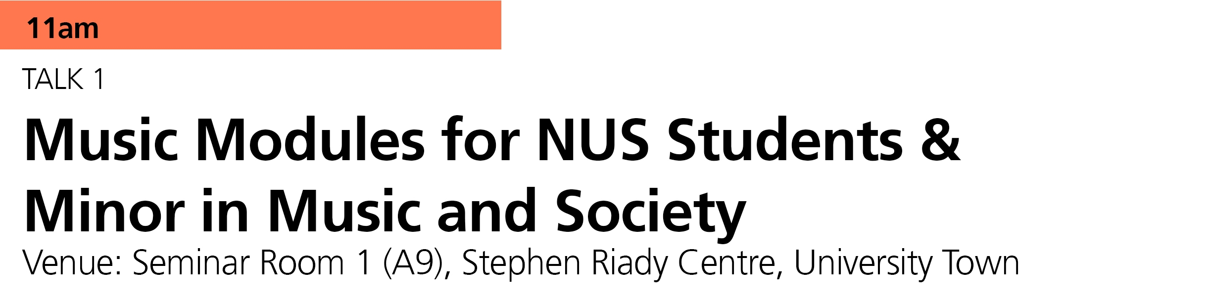 In addition to a range of music modules available to NUS students, beginning this coming academic year, NUS students are able to read a new  Minor in Music & Society . Find out more here:  https://www.ystmusic.nus.edu.sg/news/minor-in-music-society