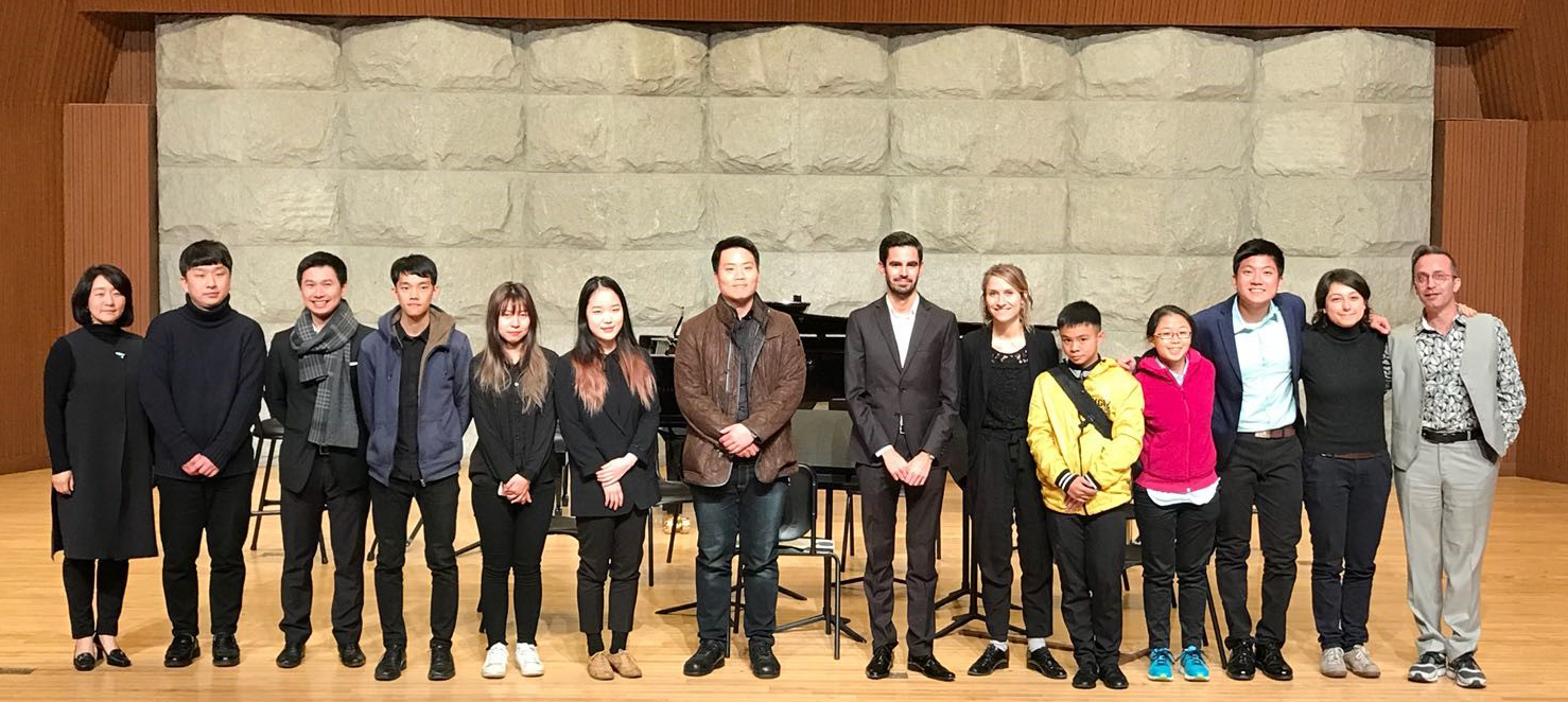 Above: Students and faculty from SNU and YST at the New Music Conference