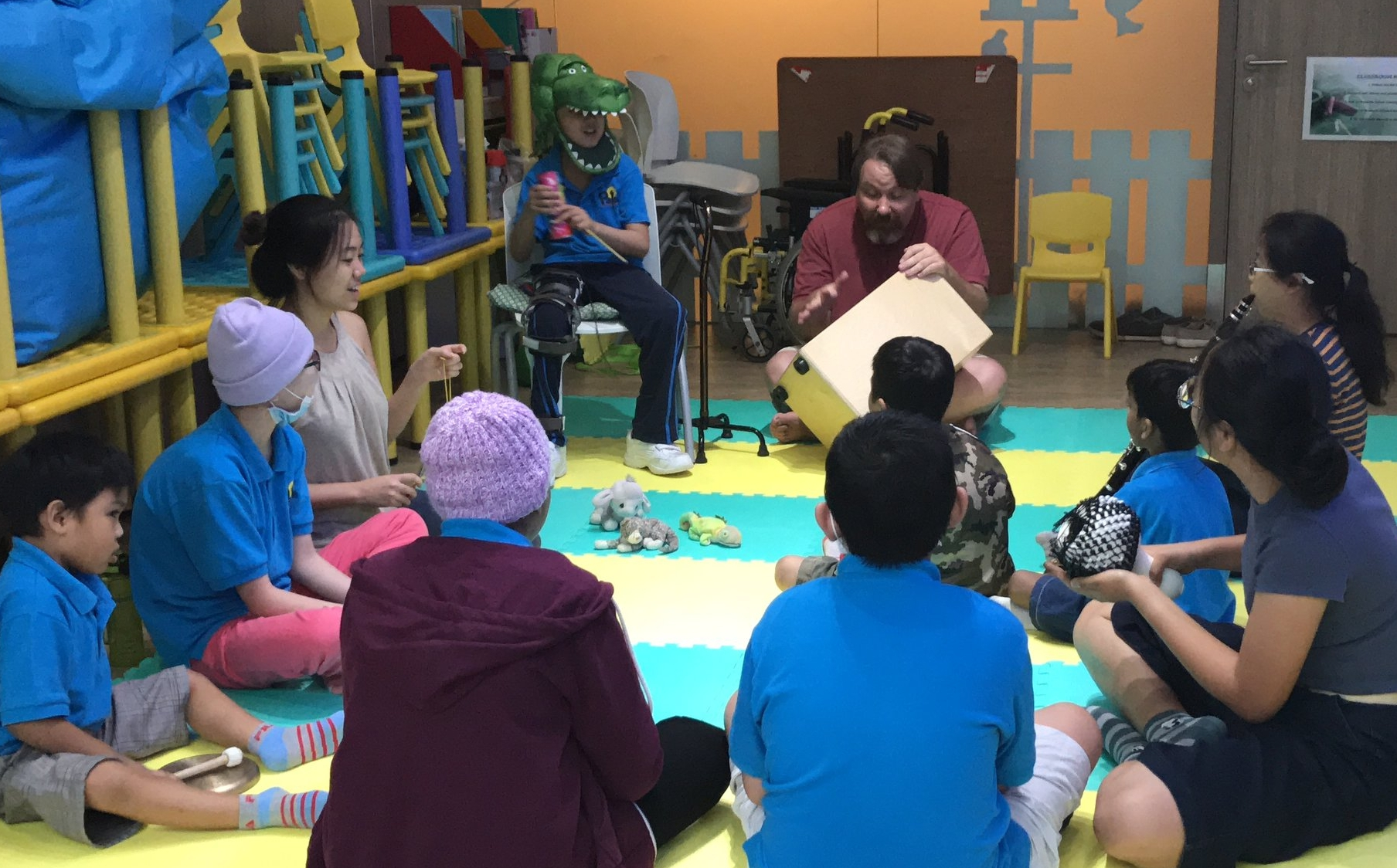 A musical story-telling workshop, part of Rachel's  Transitions  programme initiative