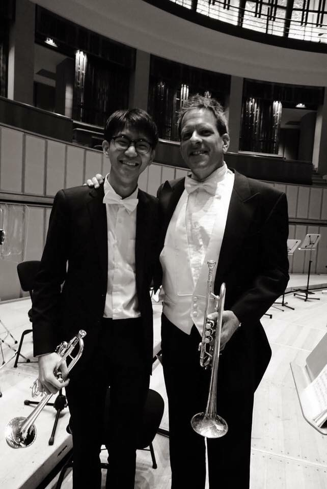 Kong with Mr Jon Dante at Esplanade Concert Hall