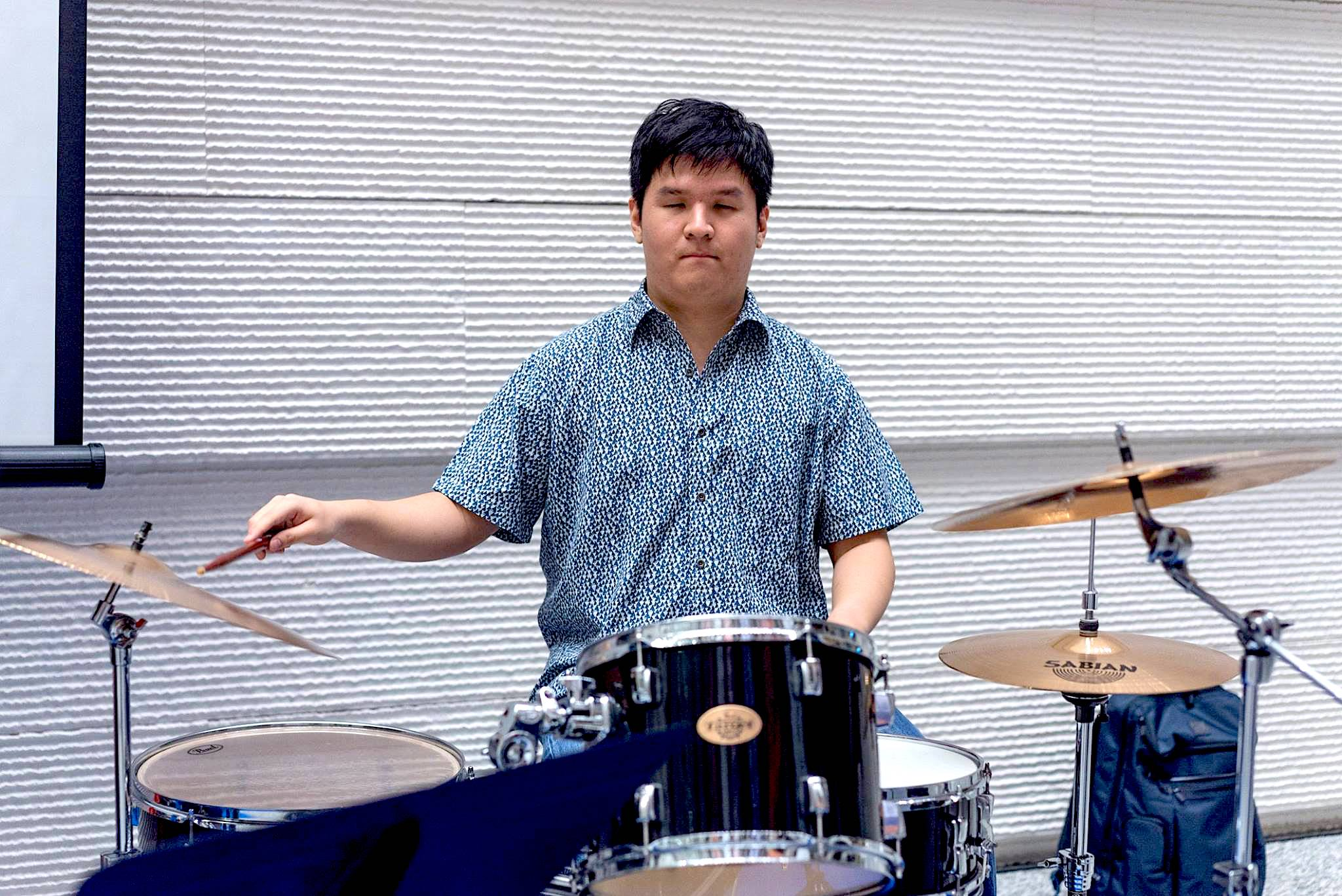 Steven plays the drumset as part of a jazz band with Assoc Prof Dr Tony Makarome
