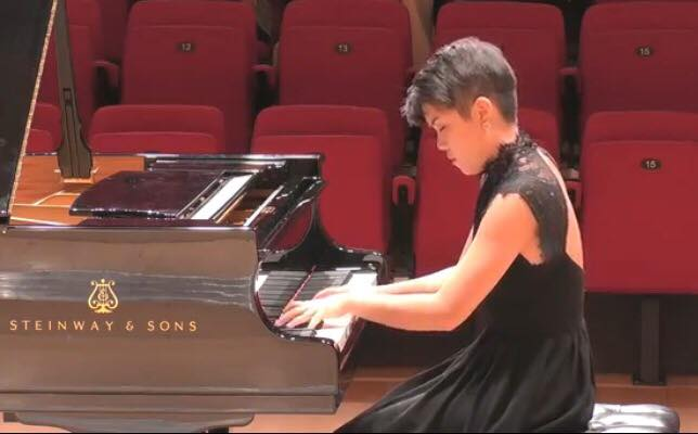 Xiangning in recital at the Royal Conservatoire of Scotland