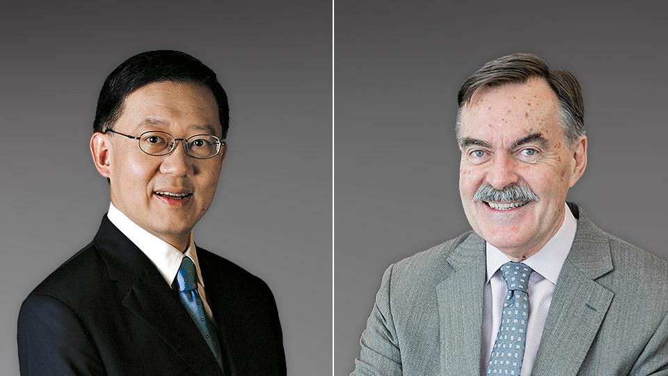 Mr Tomlin (right) will succeed Mr Goh as Chairman of the YST Governing Board from 1 November 2018