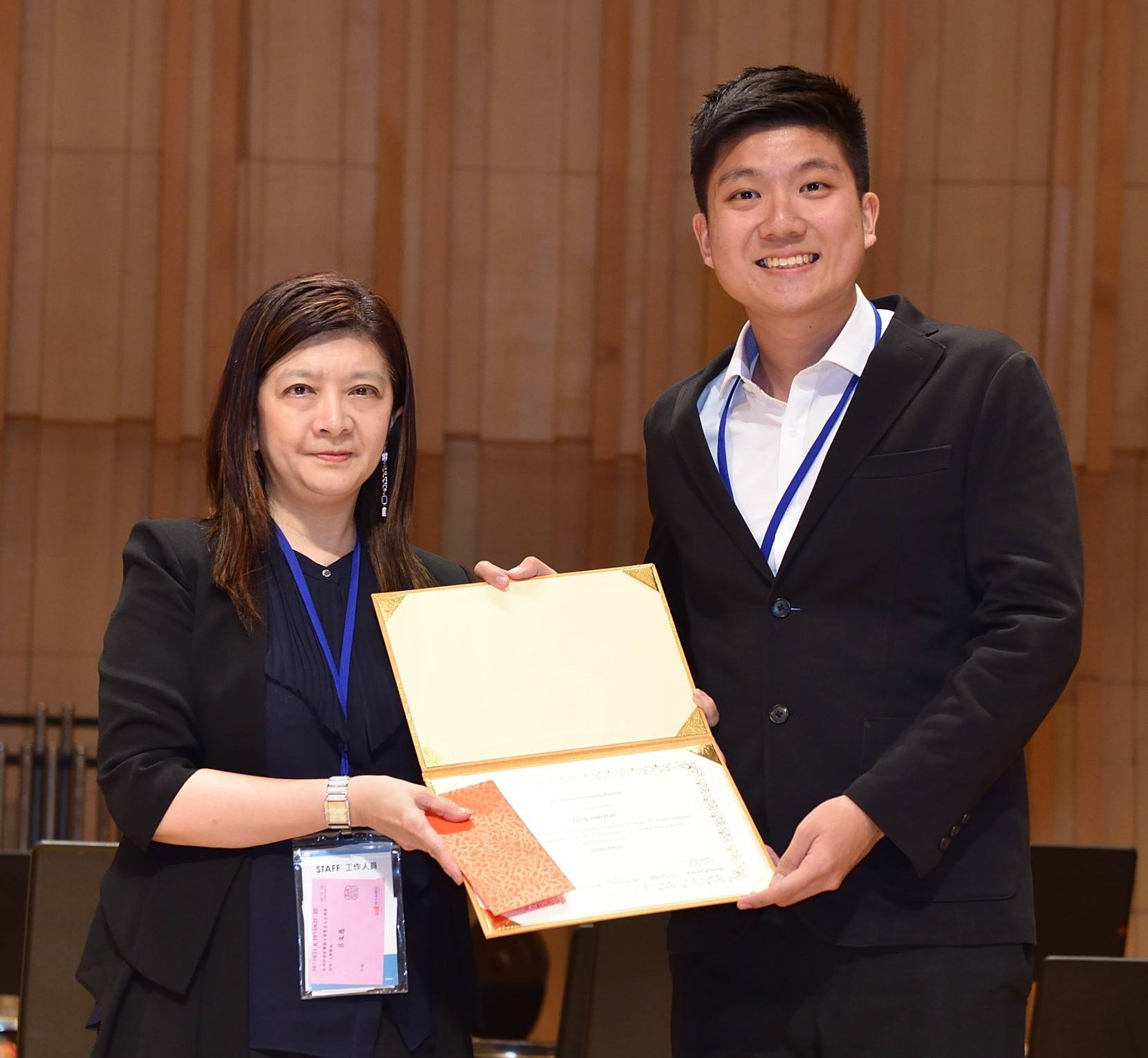 Jian Han receiving 3rd Prize at the 2018 Asian Composers League Young Composers Competition.