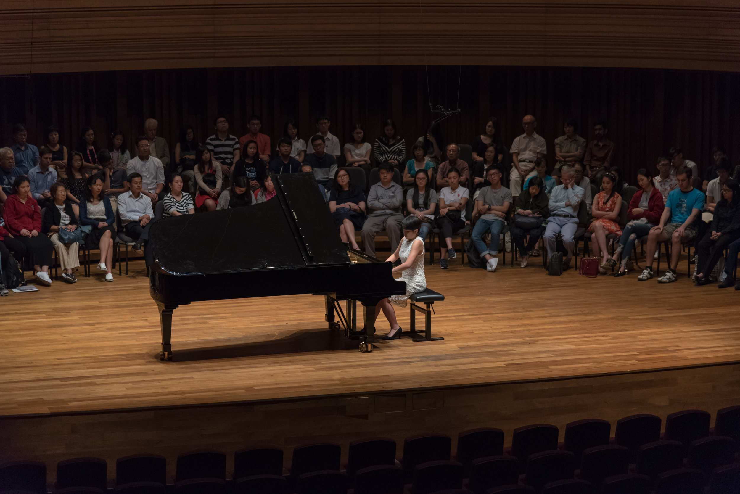 Xiangning performing in The Seasons, an open studio class by the Piano students of Assoc Prof Albert Tiu.