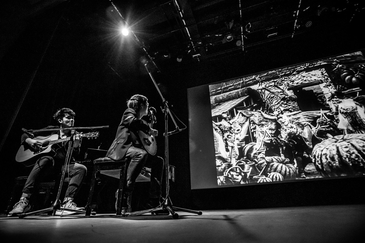 Accompanying silent films with engaging live music at Alliance Française de Singapour's International Music Day Ciné-Concert (second from left). Photo by Arron Teo Art//Photography