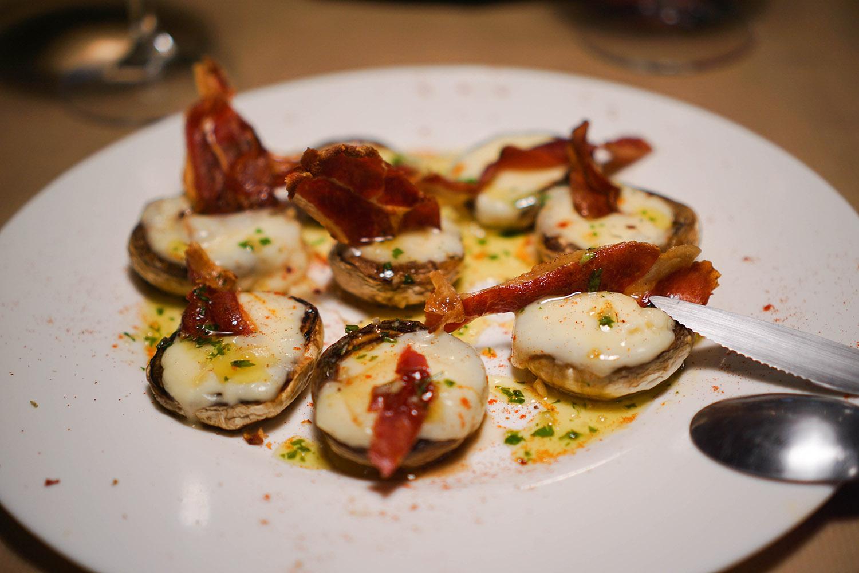 Mushroom, bacon, and cheese from Arzúa