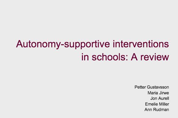 Autonomi & Inre motivation
