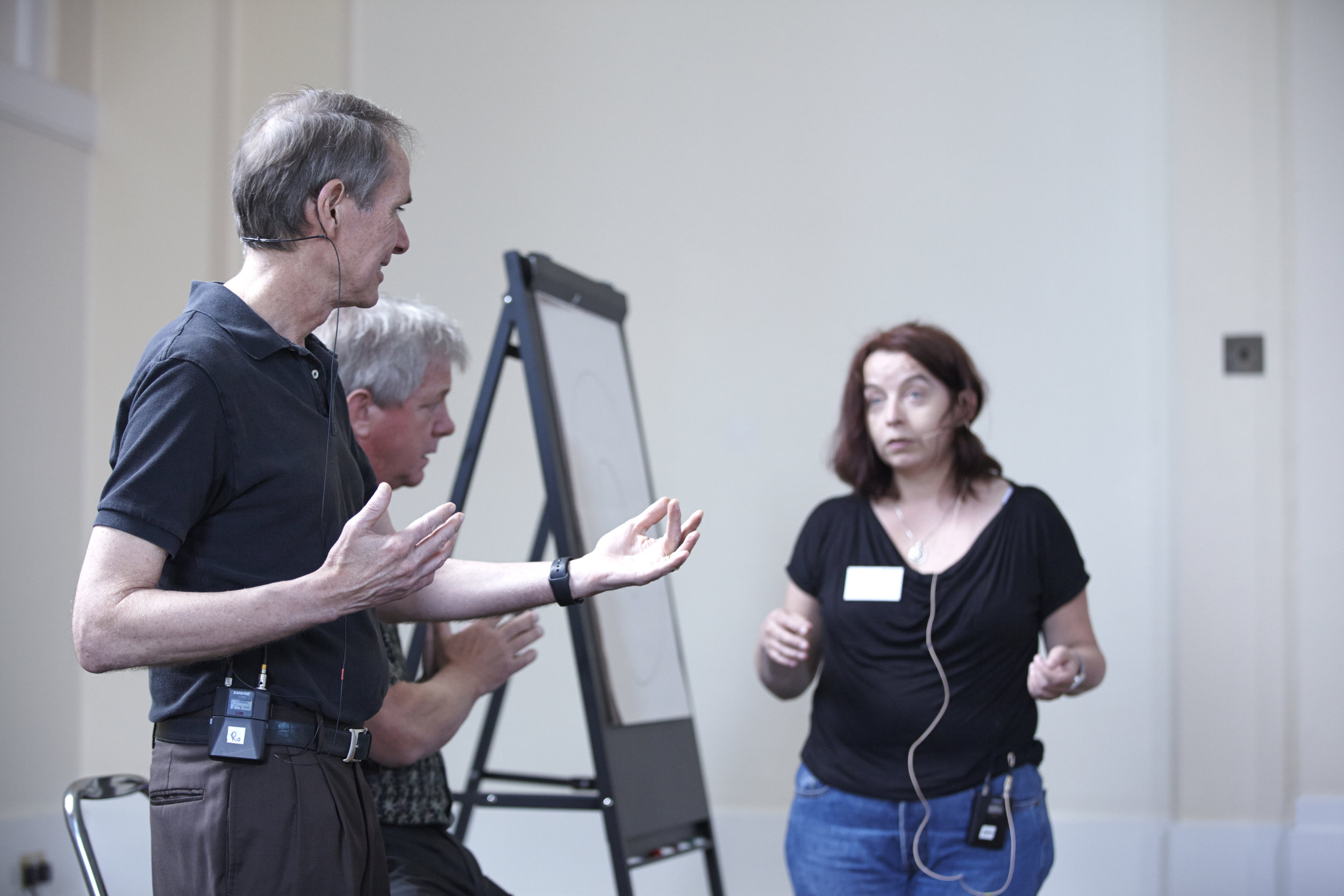 Steve Rober and client on stage arms out .jpg