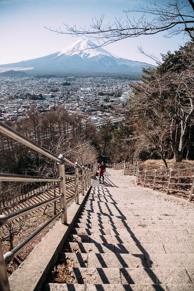 mt fuji, chureto pagoda, japan, tokyo, travel, travel photography, landscape, nature, sketch and run