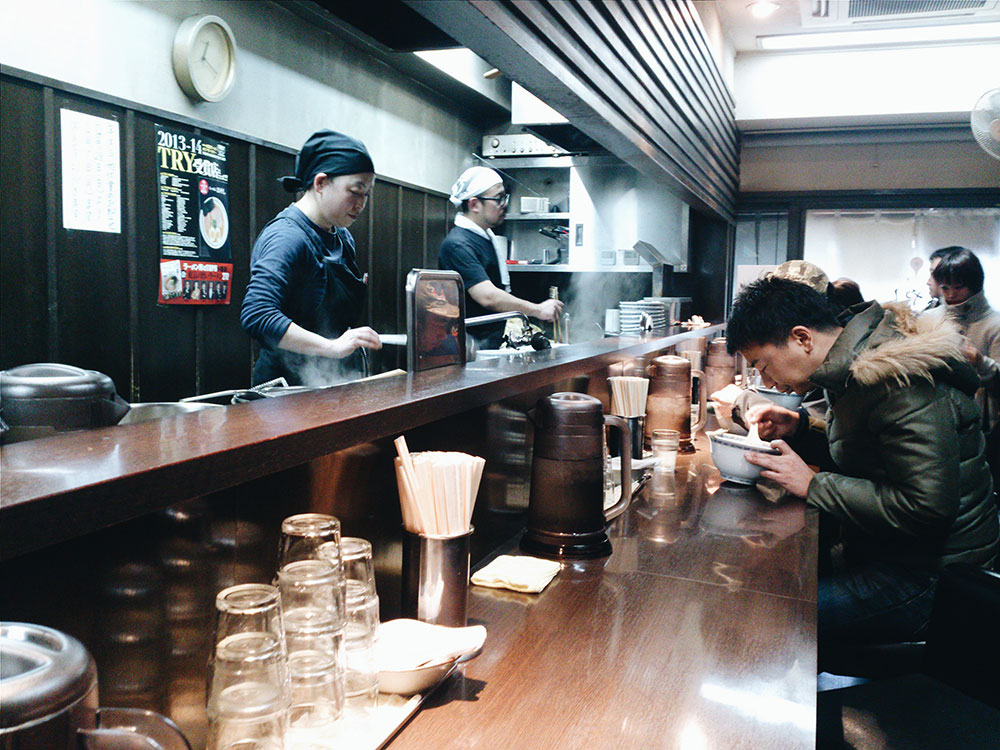 hayashi ramen, shibuya, tokyo, sketch and run, ramen, store