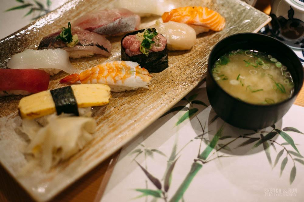 uoriki kaisen sushi, sushi, tokyo, food, japan, sketch and run