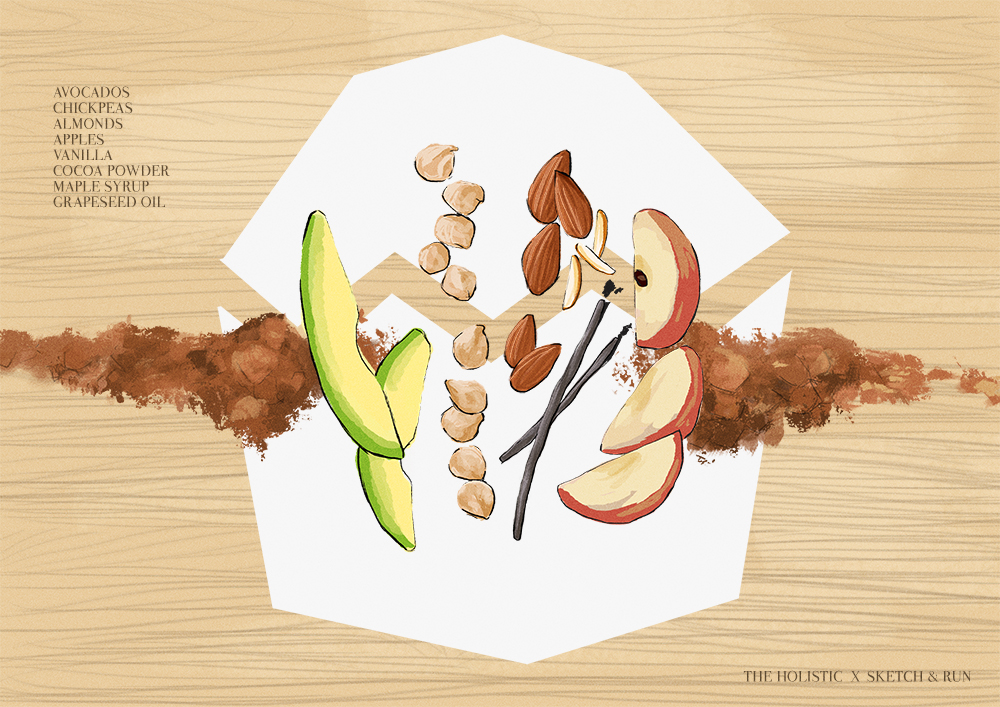 holistic, feel good cake, sketch and run, the holistic, harvard holistic, illustration, food, vegan
