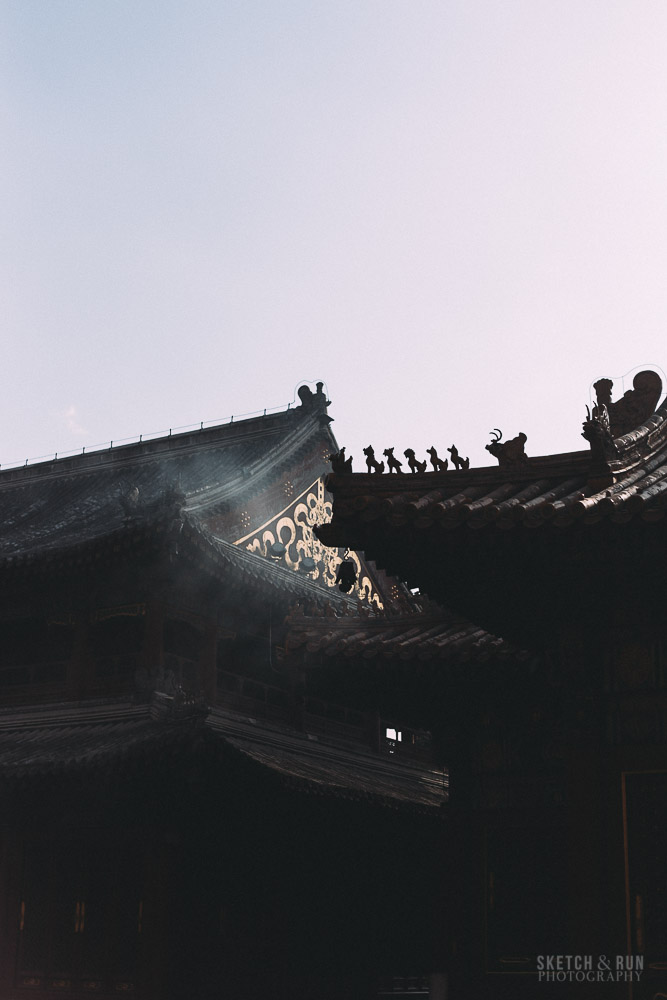 lama temple, beijing, yongegong, china, architecture, temple, sketch and run, gold, light