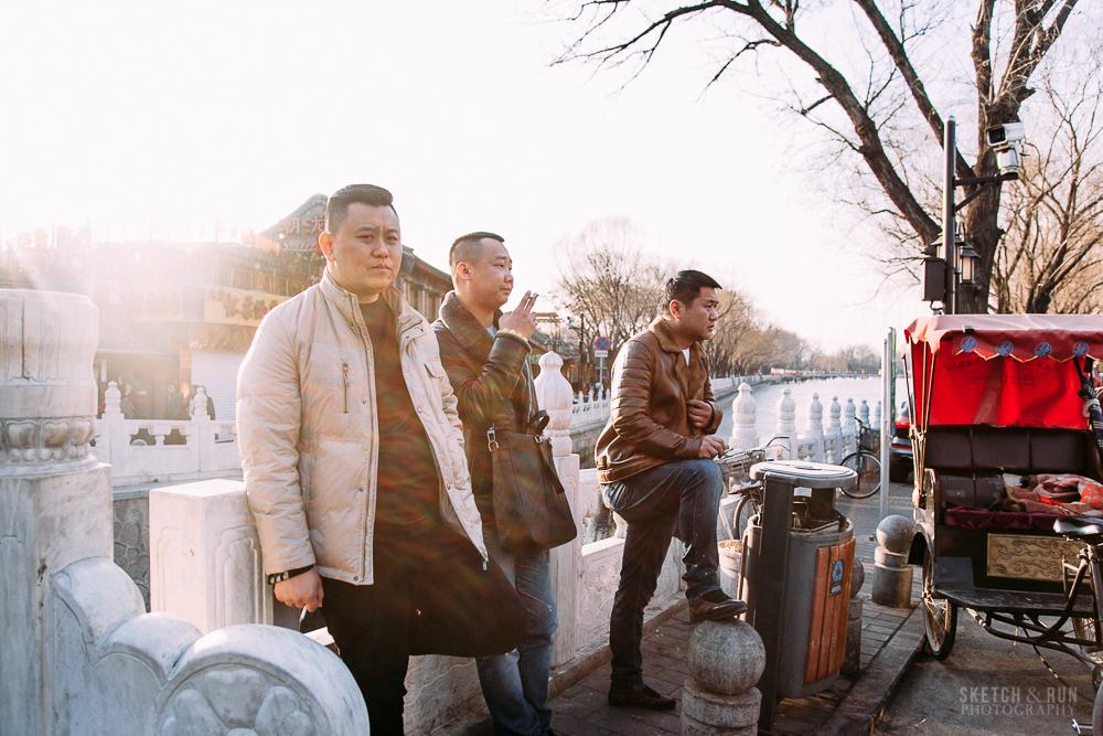houhai, beijing, china, street photography, sketch and run