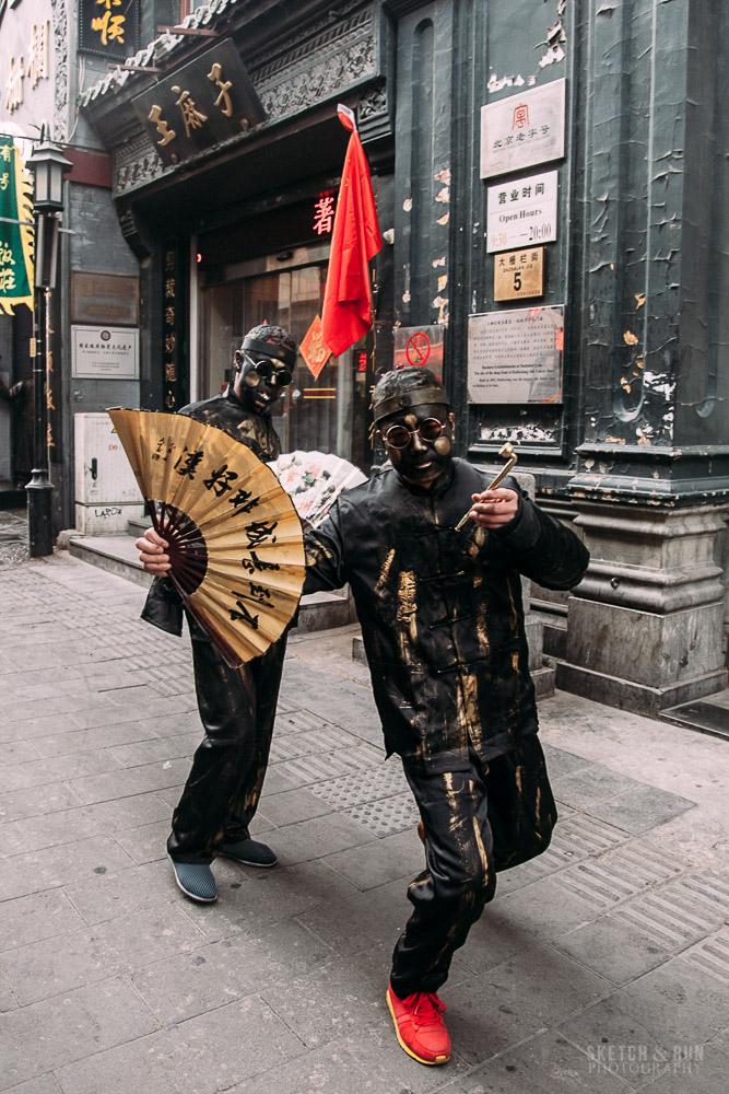 qianmen, china, beijing, architecture, sketch and run