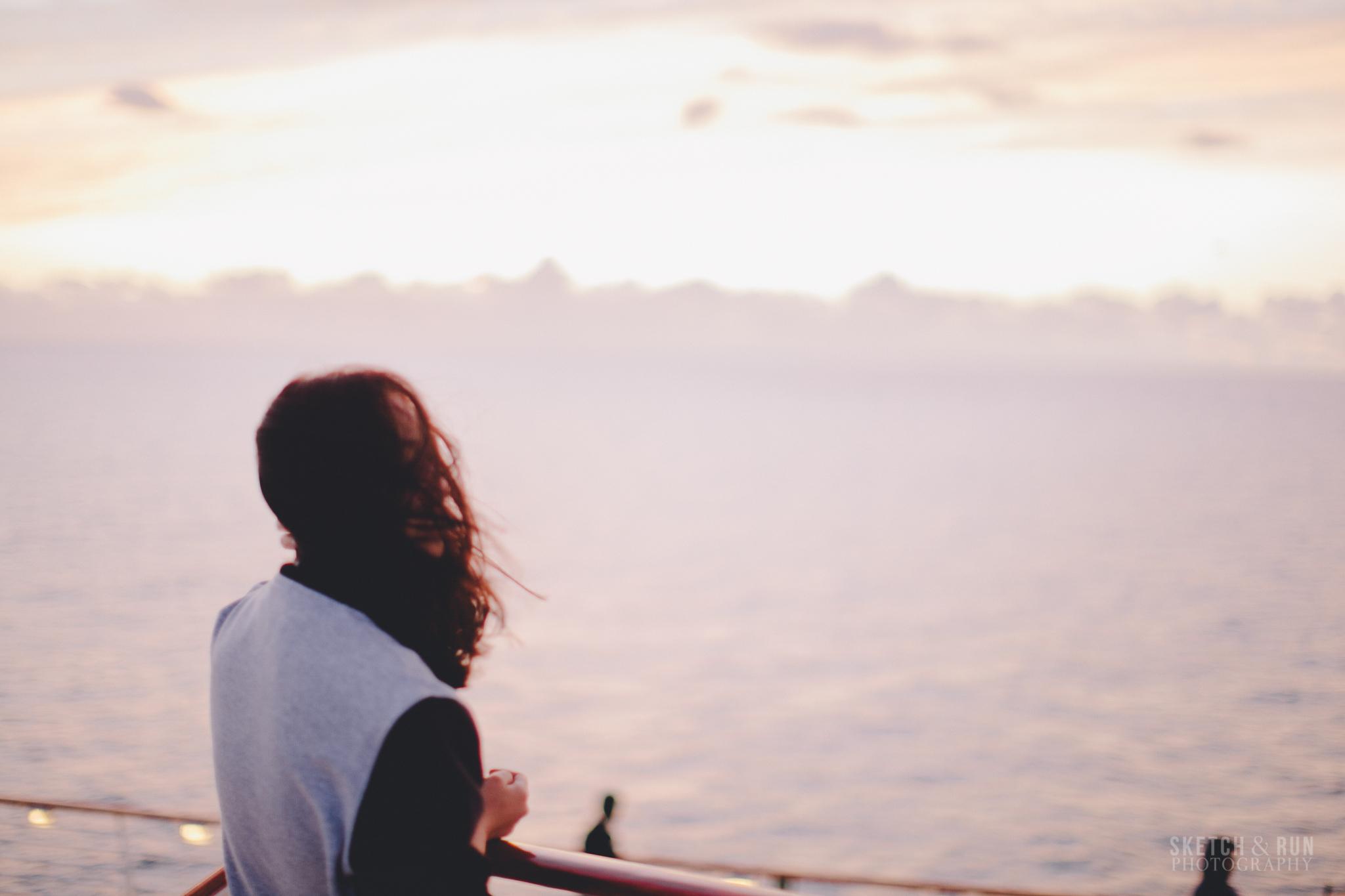sunrise, ocean, pacific