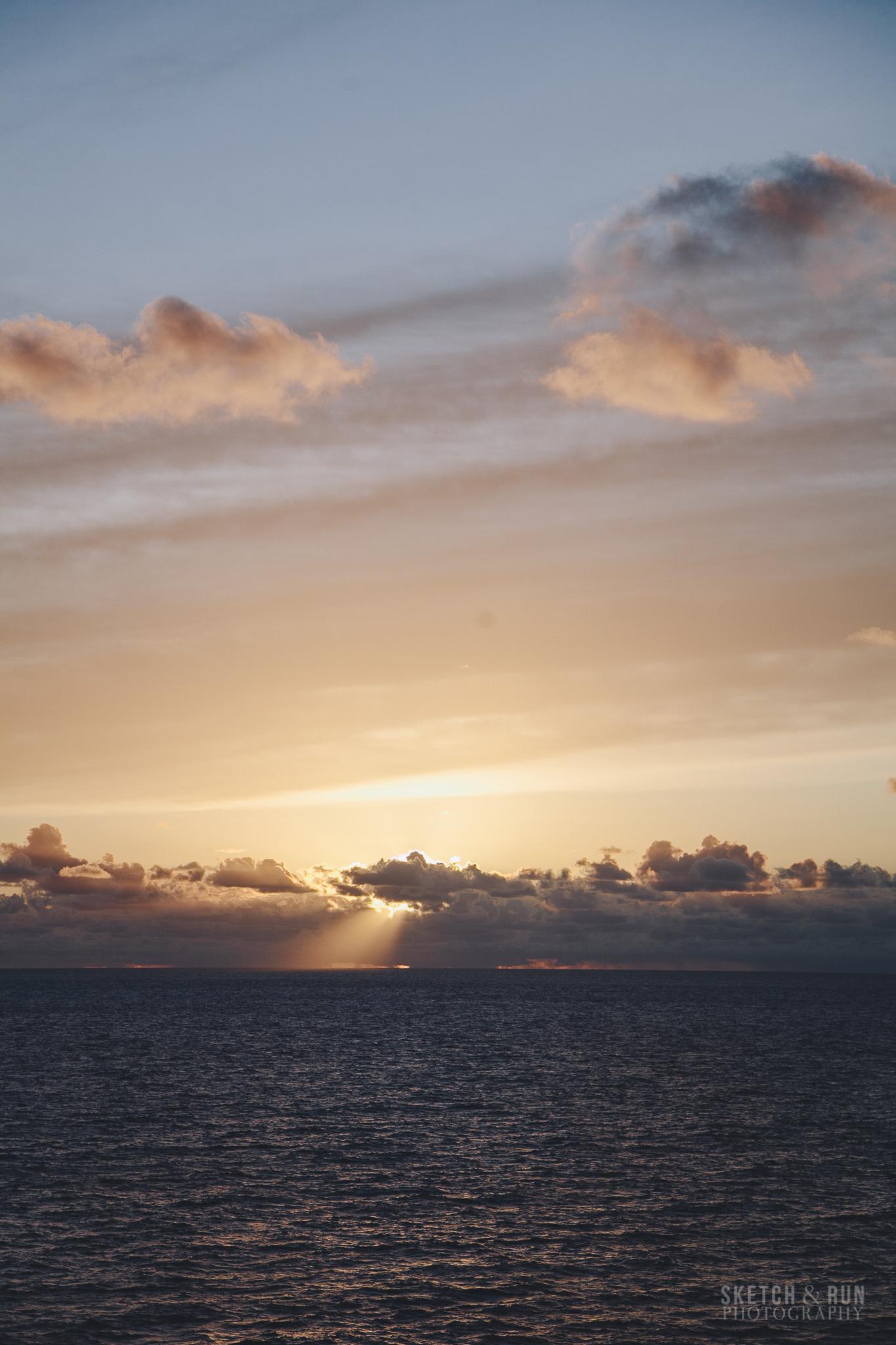 sunrise, ocean, pacific, cruise, explorer of the seas, royal caribbean, light, sun
