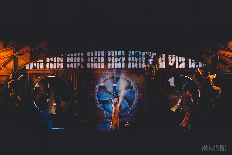 performance, smoke machine, stage