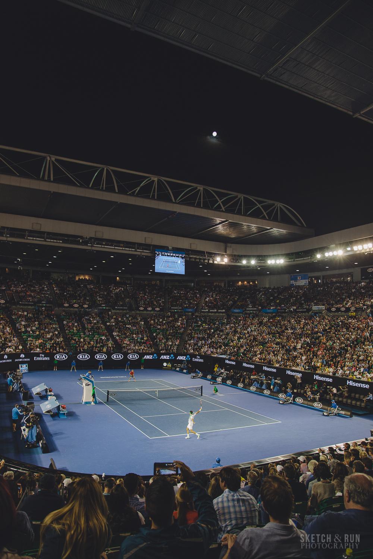 roger federer, australian open, ausopen, rod laver arena, david goffin