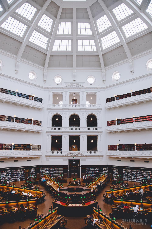 state library of victoria, la trobe reading room, architecture, symmetry, melbourne