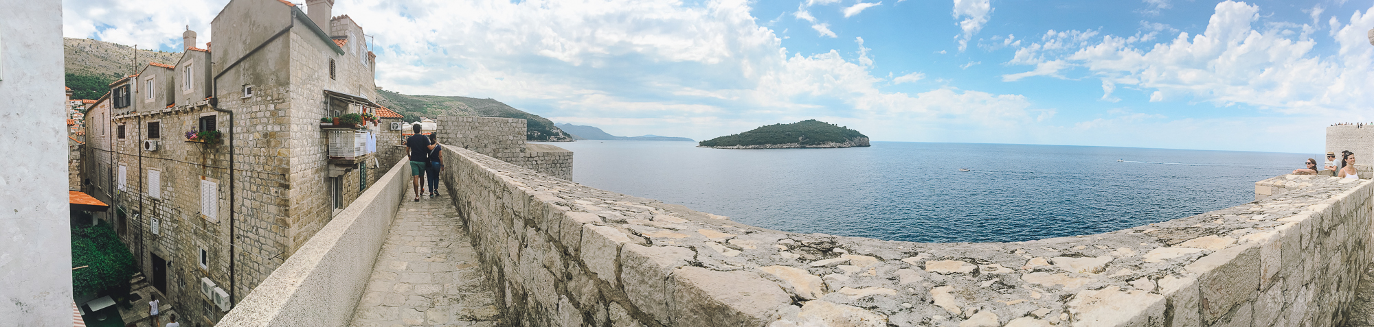 croatia, dubrovnik, landscape, panorama, europe, travel, wall, old city