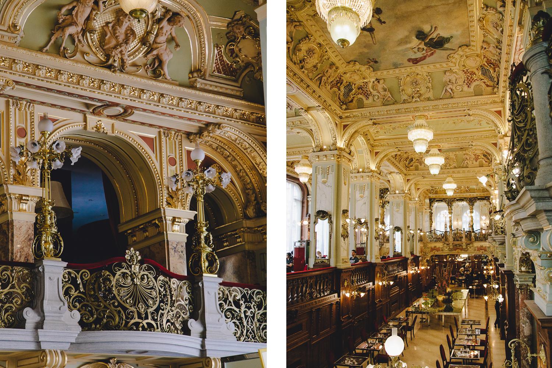 Budapest, Hungary, New York Cafe, furnishings
