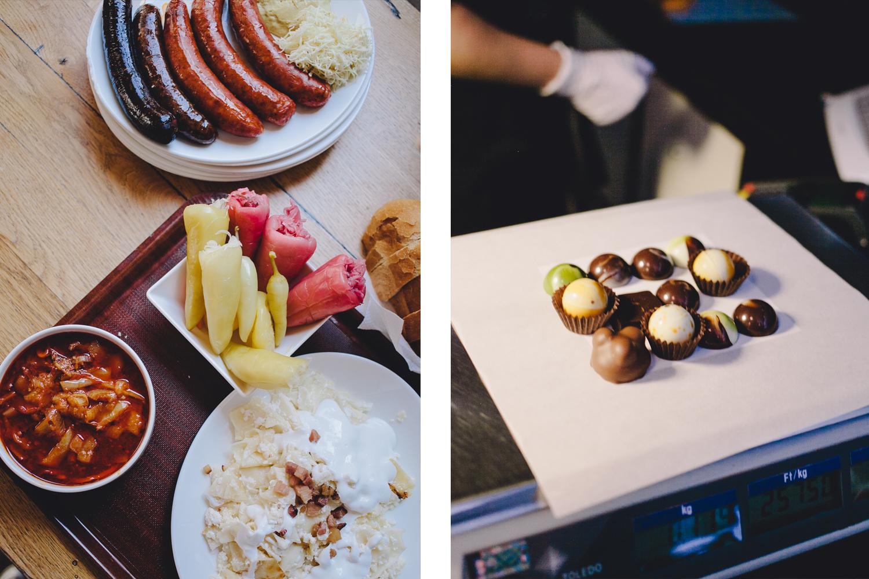 taste hungary, food, food tours, chocolate, paprika sausages