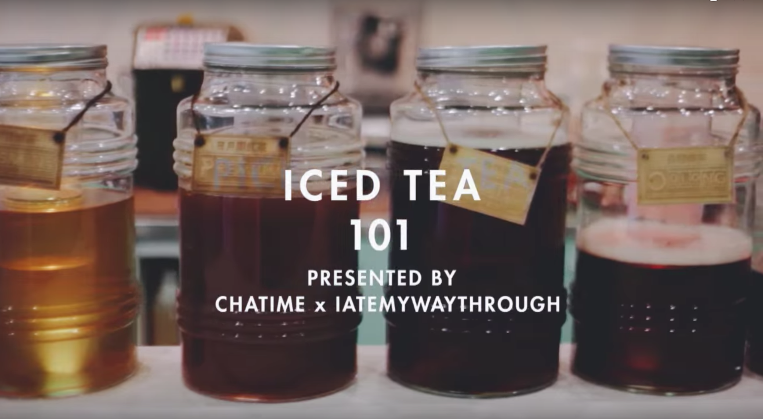 ICED TEA 101 - Multimedia guide to bubble/boba iced teain collaboration with Chatime Australiafor I Ate My Way Through.