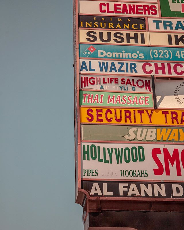 In a true on-brand moment, I found myself a little charmed by the vintage feeling of these strip mall signs, lowkey seediness of old graphic design trends falling apart quite literally by the letter and bleached by the sun. I think I expected LA to be another version of Times Square in NYC, modern and sleek and it was emphatically not, at least not in the daytime and along Hollywood Blvd, but eyeopening nonetheless 🇺🇸 • • • • • #minimal #pastelbuildings #la #losangeles #thebroadmuseum #minimalmood #thegettymuseum #rsa_minimal #dtla #minimal_perfection #minimalove #simplicity #minimalobsession #abstract #mindtheminimal #socal #conquer_la #minimalism_world #beverlyhills #vintagesign #cali #graphicdesign #architecturelovers #losangeles_gram #minimalexperience #ig_minimalist #ig_minimalshots #unlimitedminimal #geometric