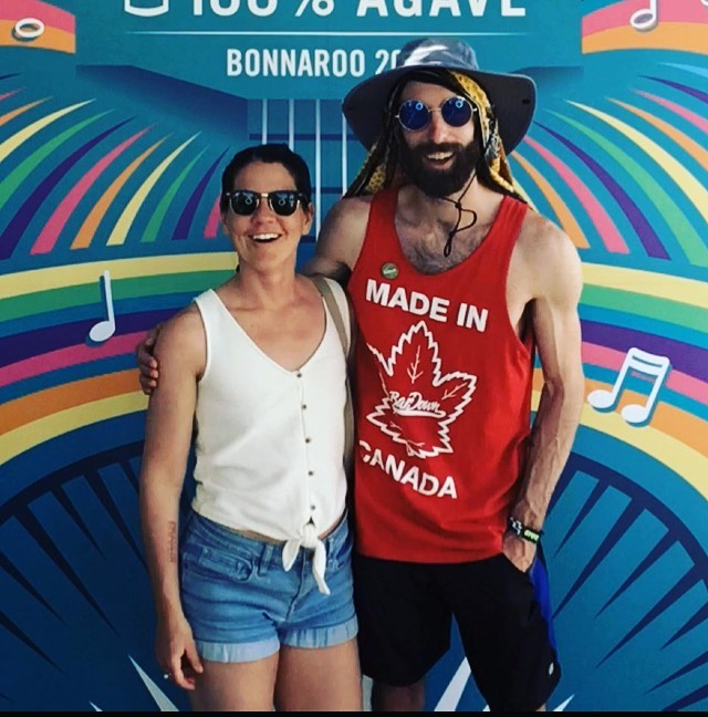 We headed to Bonnaroo to celebrate our 5 year anniversary. It was perfect for us. I love you beave. Happy anniversary. #happyroo