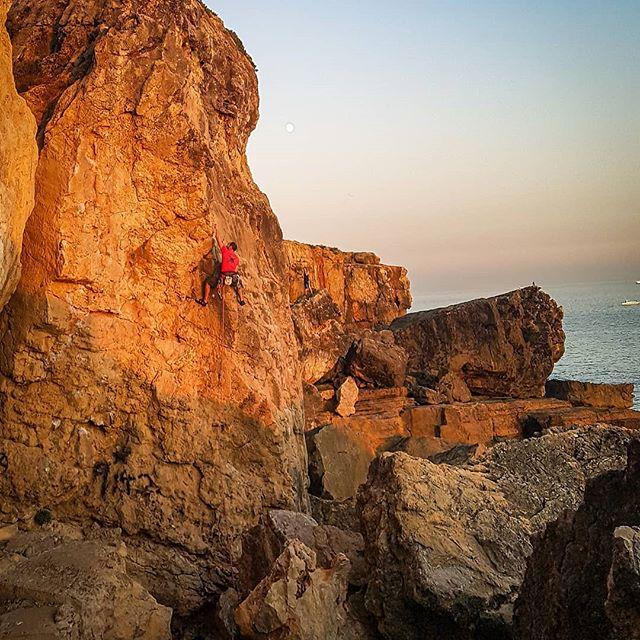 Sunset climb overlooking the sea...bliss