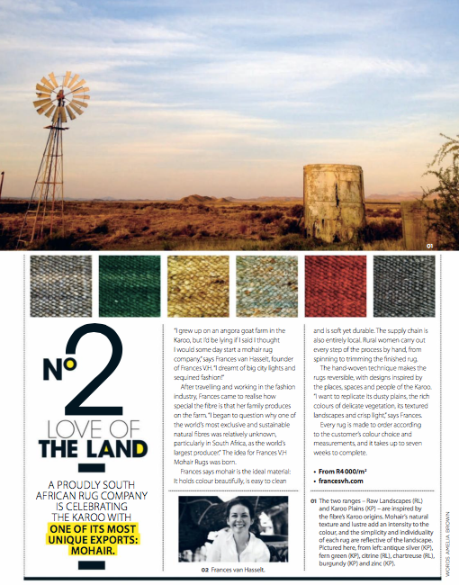 LOVE OF THE LAND -   VISI Magazine