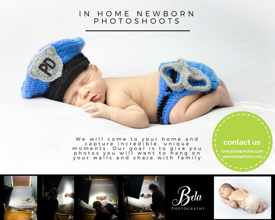 newborn in home photoshoots - Newborns around 2-3 weeks old, we provide the outfits, wrappings and props.