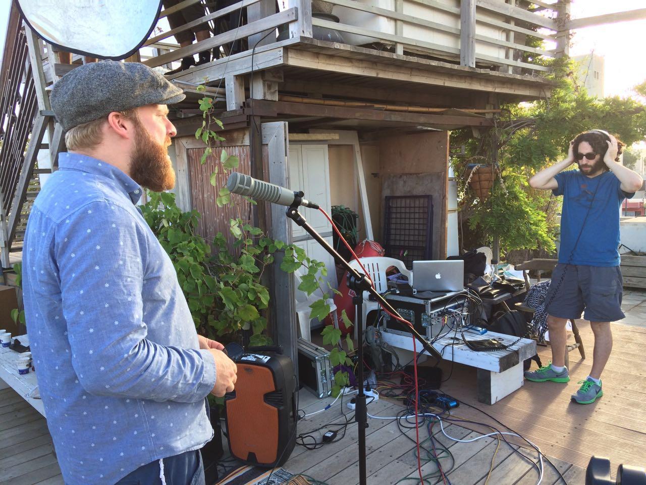 Recording Alex Clare in Tel Aviv