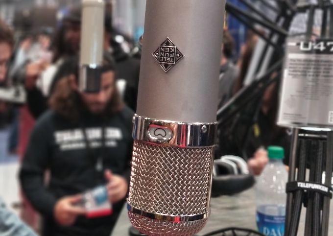 The famed Telefunken U47 on display at AES 143
