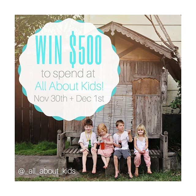 Hope you're all having a lovely weekend!! It's your last chance to enter this amazingly generous competition from All About Kids Pop Up! Head over to their Instagram account @_all_about_kids to have a chance at winning!!