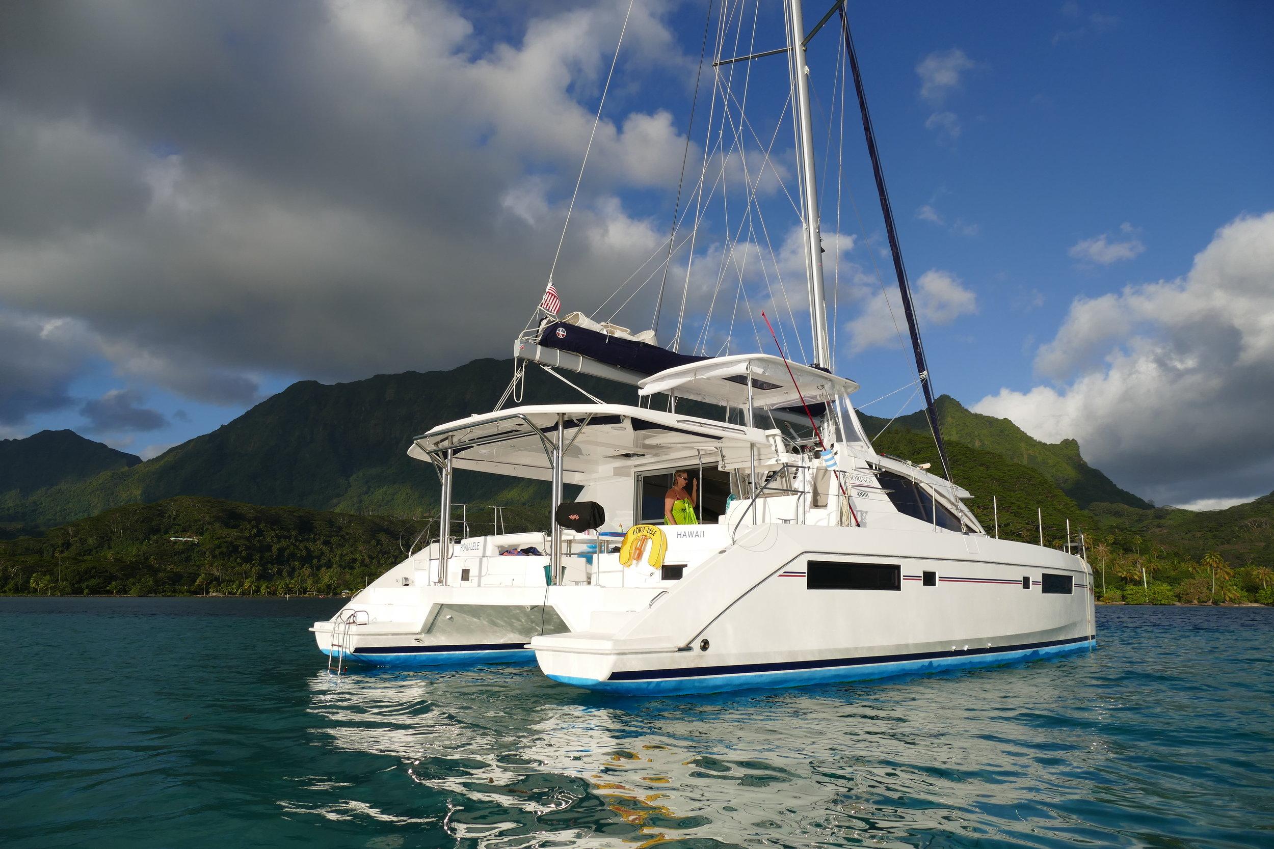 moorings 4800 at anchor