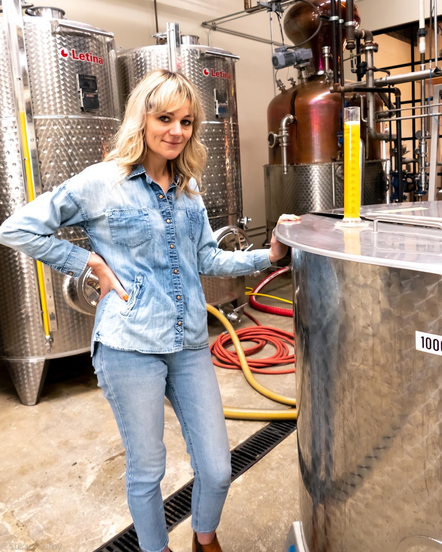 Morgan McLachlan head distiller at The Spirit Guild Distillery