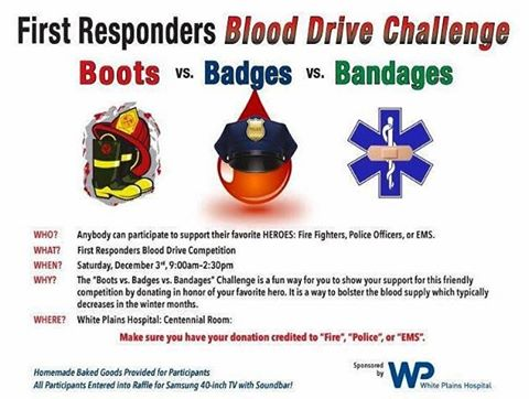 Take a few minutes today, swing by @wphospital and help save a life. #GiveBlood #GreenburghFireFighters #Greenburgh #Fairview #Hartsdale #Greenville #Edgemont