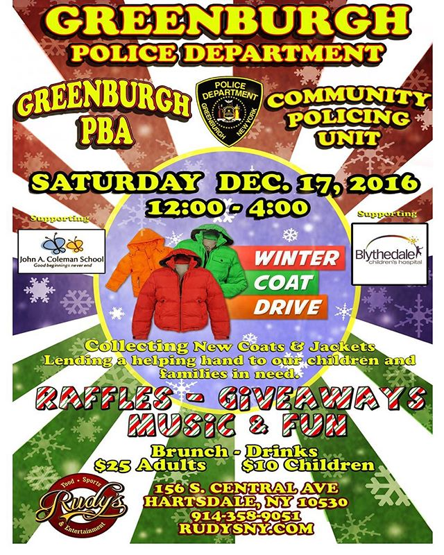 Come out and support our brothers and sisters in blue bring warmth to those in need this winter.